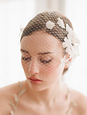 cheap Wedding Veils-One-tier Vintage Style / Classic Style Wedding Veil Blusher Veils with Petal / Solid Tulle