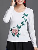 povoljno Majica s rukavima-Majica s rukavima Žene - Osnovni Dnevno Cvjetni print