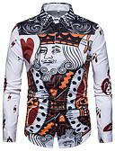 זול חולצות לגברים-גיאומטרי מידות גדולות חולצה - בגדי ריקוד גברים / שרוול ארוך