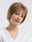 זול שמלות NYE-שיער ללא שיער שיער אנושי גלי טבעי פיקסי קאט שיער טבעי חום ללא מכסה פאה בגדי ריקוד נשים לבוש יומיומי