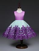Χαμηλού Κόστους Βρεφικά φορέματα-Μωρό Κοριτσίστικα Βίντατζ Πάρτι / Γενέθλια Φλοράλ Κεντητό Αμάνικο Ως το Γόνατο Βαμβάκι / Πολυεστέρας Φόρεμα Βυσσινί / Νήπιο