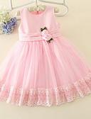 halpa Tyttöjen mekot-Lapset Tyttöjen Makea Päivittäin Yhtenäinen Hihaton Polvipituinen Mekko Punastuvan vaaleanpunainen