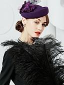 preiswerte Abendkleider-100% Wolle Hüte mit Blumig 1pc Normal / Freizeitskleidung Kopfschmuck