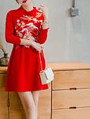 tanie Romantyczna koronka-Damskie Podstawowy Bawełna Szczupła Spodnie - Solidne kolory / Zwierzę Patchwork / Nadruk Czerwony / Półgolf / Seksowny