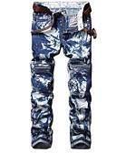 رخيصةأون بنطلونات و شورتات رجالي-بنطلون رجالي جينزات - نحيل ألوان متناوبة أناقة الشارع