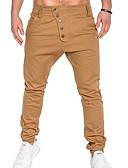 お買い得  メンズTシャツ&タンクトップ-男性用 ベーシック スウェットパンツ パンツ - ソリッド ネイビーブルー