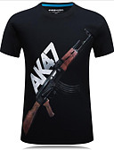 cheap Men's Tees & Tank Tops-Men's Street chic T-shirt - Letter Print