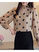 ieftine Bluză-Pentru femei În V Bluză Ieșire Geometric
