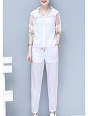 ieftine Tricou-Pentru femei Set - Bloc Culoare, Pantaloni