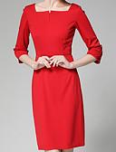tanie Sukienki-Damskie Moda miejska Linia A Sukienka - Solidne kolory Nad kolano
