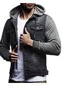 זול סוודרים וקרדיגנים לגברים-בגדי ריקוד גברים שחור אפור כהה כחול נייבי XL XXL XXXL ז'קטים מג'ינס בסיסי קולור בלוק עם קפוצ'ון / שרוול ארוך