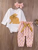 povoljno Kompletići za bebe-Dijete Djevojčice Boho Dnevno Na točkice Mašna Dugih rukava Duga Dug Pamuk Komplet odjeće Obala / Dijete koje je tek prohodalo