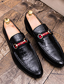 זול חליפות-בגדי ריקוד גברים נעליים פורמליות דמוי עור סתיו נעליים ללא שרוכים שחור / חום / חתונה / מסיבה וערב