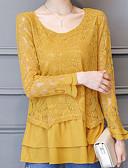preiswerte Kleider in Übergröße-Damen Solide - Grundlegend Bluse Spitzenbesatz
