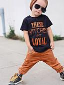 Χαμηλού Κόστους Βρεφικά Για Αγόρια μπλουζάκια-Μωρό Αγορίστικα Βίντατζ / Ενεργό Καθημερινά / Αργίες Στάμπα Κοντομάνικο Κανονικό Πολυεστέρας / Spandex Κοντομάνικο Μαύρο / Νήπιο