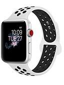 hesapli Saat Aksesuarları-Silika Jel Watch Band kayış için Apple Watch Series 3 / 2 / 1 Siyah / Beyaz 23cm / 9 inç 2.1cm / 0.83 İnç