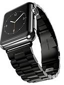 abordables Llaveros de Regalo-Acero Inoxidable Ver Banda Correa para Apple Watch Series 3 / 2 / 1 Negro / Plata / Dorado 23cm / 9 pulgadas 2.1cm / 0.83 Pulgadas