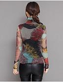 ieftine Bluză-Pentru femei Tricou Chinoiserie - Geometric Peteci / Imprimeu Tropical Leaf