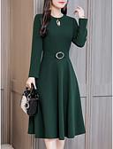 baratos Vestidos Plus Size-slim um vestido de linha feminino midi