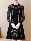 abordables Vestidos de Talla Grande-Mujer Básico Pantalones - Geométrico Negro