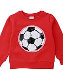 cheap Girls' Clothing-Kids Boys' Basic Print Long Sleeve Cotton Hoodie & Sweatshirt Green 3-4 Years(110cm)