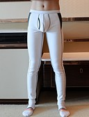 cheap Men's Swimwear-Men's Normal Polyester Gender Neutral Long Johns Solid Colored Jacquard Low Waist