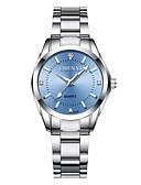 ieftine Ceasuri Digitale-Pentru femei Ceas Elegant Japoneză Quartz 30 m Rezistent la Apă Iluminat Ceas Casual Oțel inoxidabil Bandă Analog Casual Modă Argint - Verde Roz Albastru Deschis