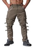 זול חולצות לגברים-בגדי ריקוד גברים סגנון רחוב / פאנק & גותיות צ'ינו מכנסיים אחיד
