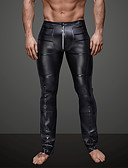 cheap Men's Pants & Shorts-Men's Daily / Club Sporty / Basic Legging - Solid Colored Mid Waist