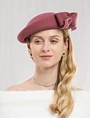 Χαμηλού Κόστους Βραδινά Φορέματα-100% Μαλλί Καπέλα με Φιόγκος 1pc Causal / Καθημερινά Ρούχα Headpiece