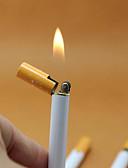 abordables Relojes de Vestir-encendedor de butano en forma de cigarrillo sin gas recargables encendedores de gas butano delgado mini forma novedad encendedor