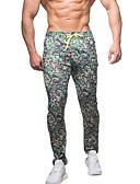 cheap Men's Pants & Shorts-Men's Pocket Track Pants Grey Camouflage Burgundy Sports Solid Color Spandex Pants / Trousers Bottoms Fitness Gym Workout Workout Activewear Breathable Quick Dry Soft Sweat-wicking Stretchy Slim