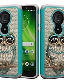 povoljno Maske za mobitele-Θήκη Za Motorola MOTO G6 / Moto G6 Play / Moto E5 Play Otporno na trešnju / Štras / Uzorak Stražnja maska Sova / Umjetno drago kamenje Tvrdo PC