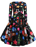 voordelige Grote maten jurken-Dames Vintage / Elegant Katoen Slank Broek - Bloemen Print Zwart / Uitgaan