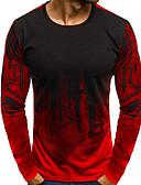 お買い得  メンズTシャツ&タンクトップ-男性用 Tシャツ ベーシック 幾何学模様