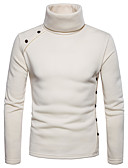 cheap Men's Tees & Tank Tops-Men's Basic Long Sleeve Sweatshirt - Solid Colored Turtleneck Dark Gray L / Fall / Winter