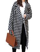 tanie Swetry damskie-Damskie Praca Moda miejska Długie Płaszcz, Miejsca i czeki Wieczorne Długi rękaw Poliester Czarny M / L / XL
