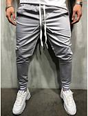 お買い得  メンズTシャツ&タンクトップ-男性用 ベーシック / ストリートファッション スウェットパンツ パンツ - ソリッド ネイビーブルー / スポーツ