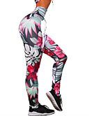 preiswerte Damen Leggings-Damen Alltag Grundlegend Legging - Blumen / Geometrisch Mittlere Taillenlinie