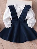 お買い得  女児 ドレス-子供 / 幼児 女の子 ベーシック 日常 ソリッド ノースリーブ 膝丈 ドレス ルビーレッド