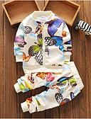 Χαμηλού Κόστους Βρεφικά σετ ρούχων-Μωρό Κοριτσίστικα Βασικό Καθημερινά Γεωμετρικό Μακρυμάνικο Κανονικό Πολυεστέρας Σετ Ρούχων Λευκό / Νήπιο