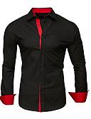 billige Herreskjorter-menns bomullskjorte - solid farget skjorte krage