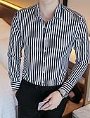 זול חולצות-פסים בסיסי חולצה - בגדי ריקוד גברים אודם