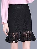 זול חצאיות לנשים-תחרה אחיד - חצאיות ליציאה בתולת ים \חצוצרה מידות גדולות בגדי ריקוד נשים
