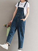 cheap Women's Pants-Women's Basic Overalls Pants - Solid Colored Blue
