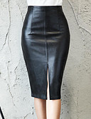 cheap Women's Skirts-Women's Street chic / Sophisticated Bodycon Skirts - Solid Colored