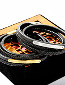 cheap Sport Watches-Men's Wrap Bracelet Leather Bracelet Leather Fashion Bracelet Jewelry Gold / Silver For Daily Going out
