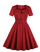 Χαμηλού Κόστους Φορέματα Παρανύμφων-Γυναικεία Βασικό Μεγάλα Μεγέθη Παντελόνι Ρουμπίνι / Λαιμόκοψη U