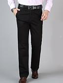 tanie Męskie spodnie i szorty-Męskie Moda miejska Typu Chino Spodnie - Solidne kolory Czarny / Praca