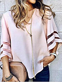 cheap Women's Shirts-Women's Blouse - Solid Colored V Neck / Flare Sleeve